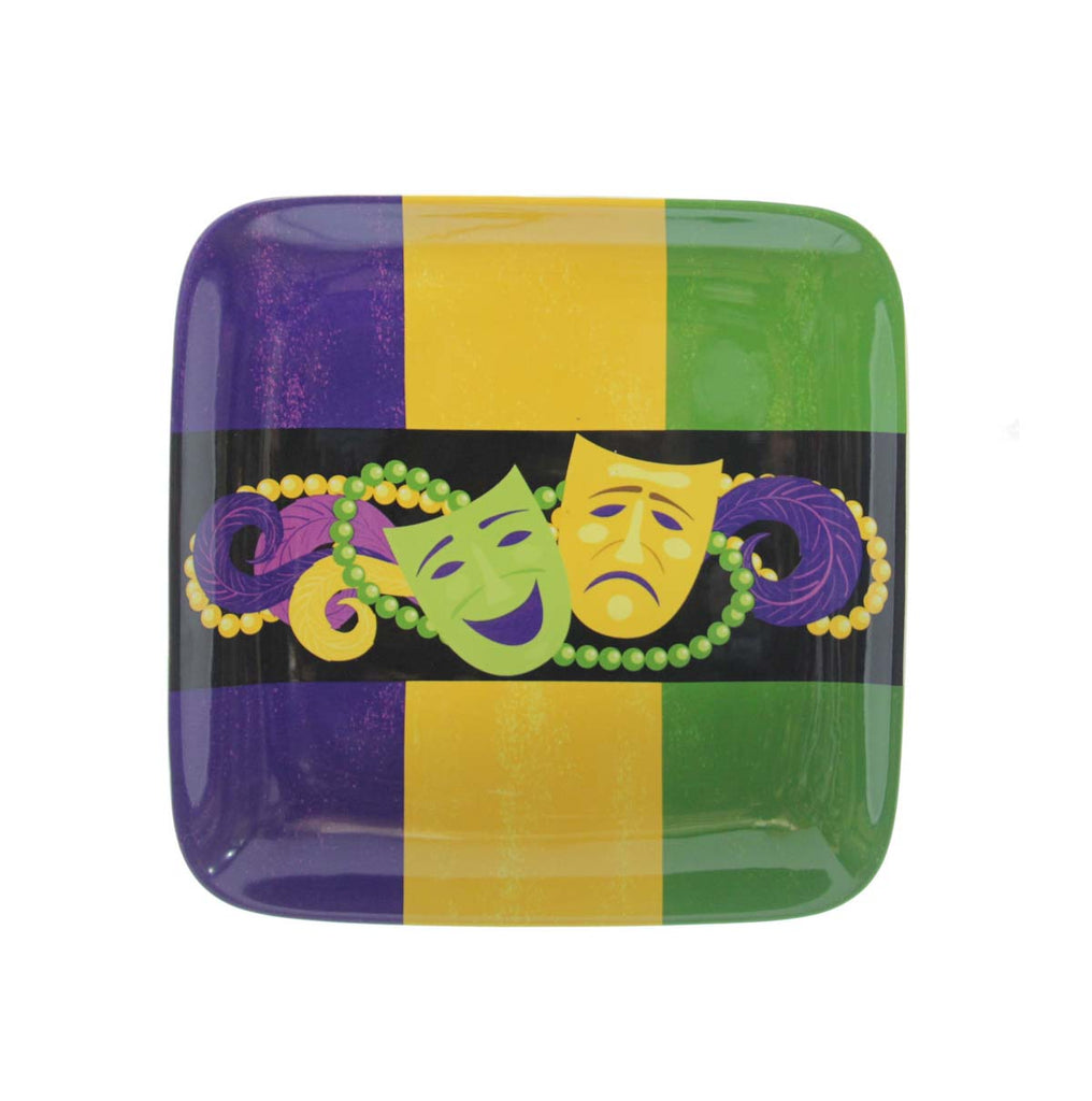 Mardi Gras Comedy & Tragedy Square Plate