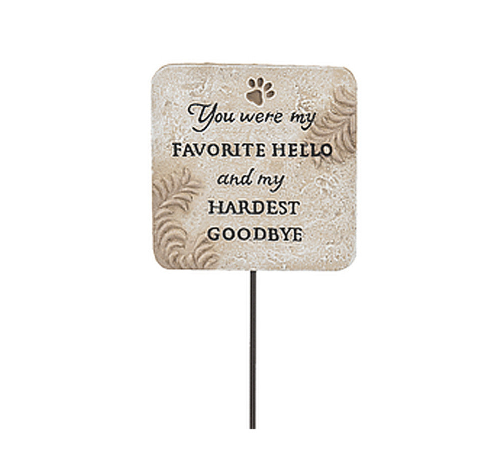 Pet Memorial - Garden Picks Hardest Goodbye