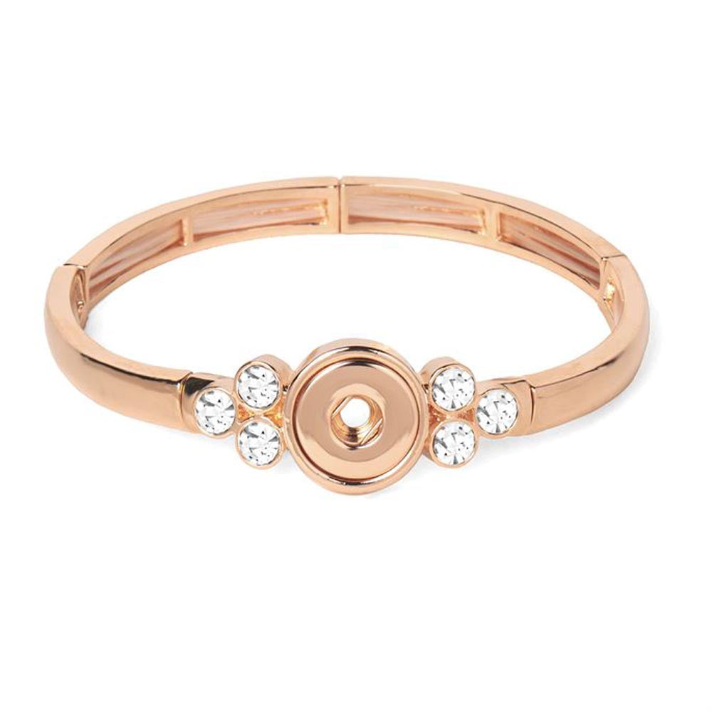 Petite Ginger Snaps Bracelet Lyra Bangle Rose Gold