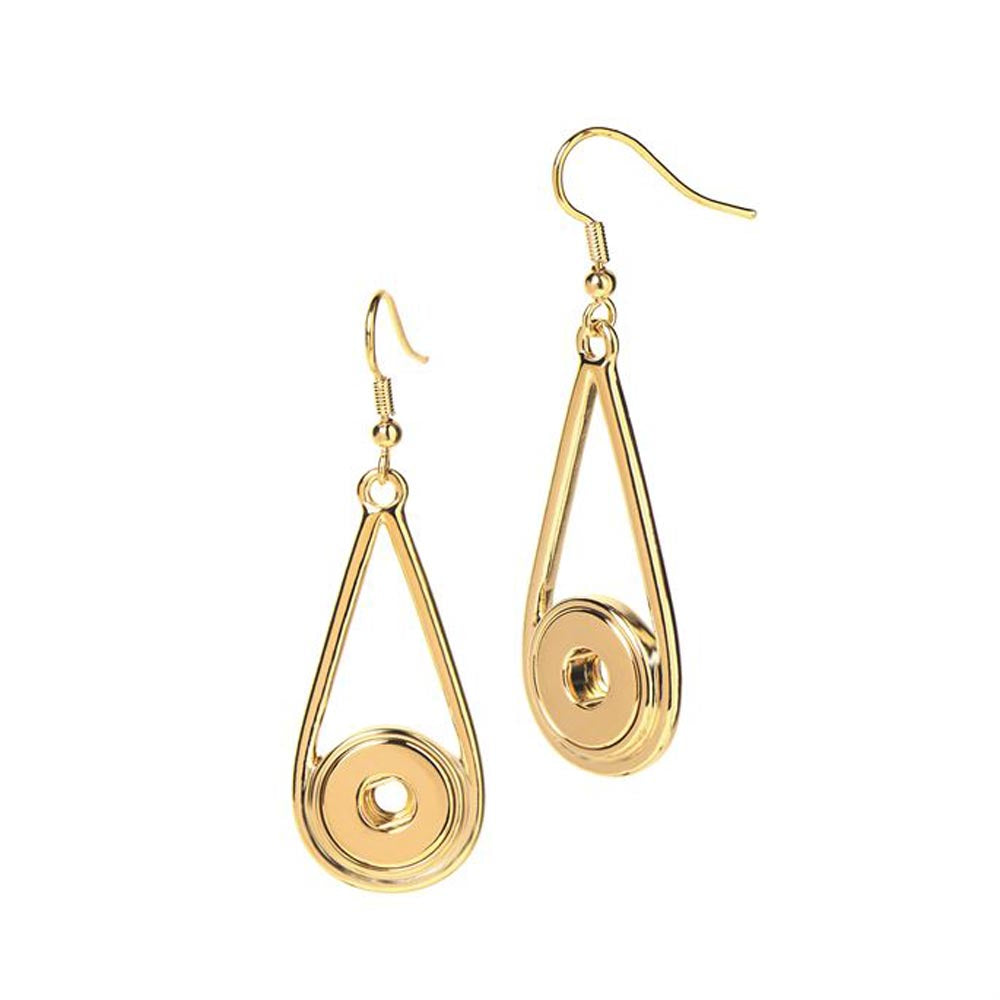 Petite Ginger Snaps Earrings Raindrop Gold