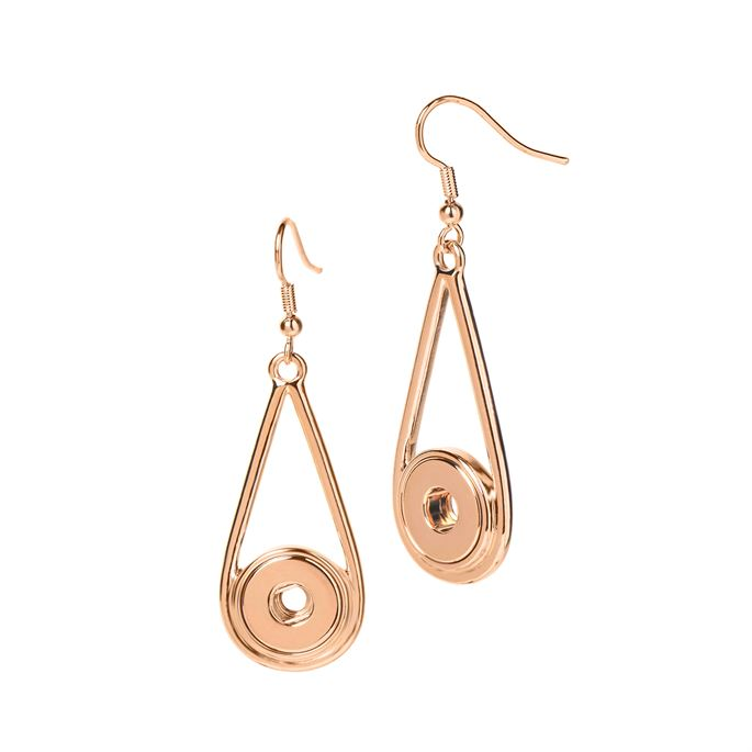 Ginger Snaps Petite Earrings Raindrop Rose Gold