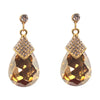 Pear Topaz Dangle Earrings