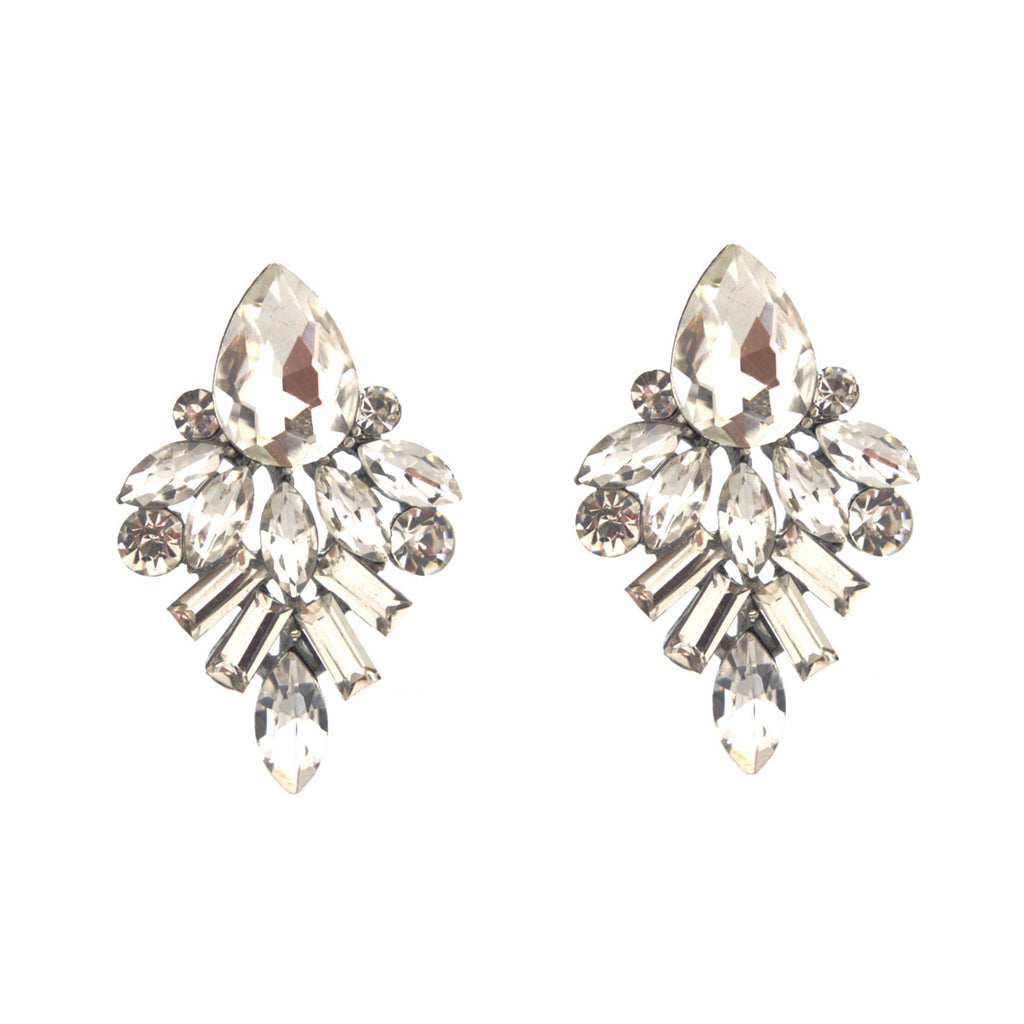 Vintage Vogue Rhinestone Earrings