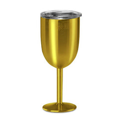 10oz Stainless Steel Stemware-Jeweled Gold