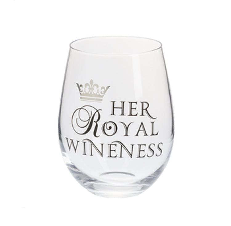 Tiara Girl Her Royal Wineness Stemless Wine Glass