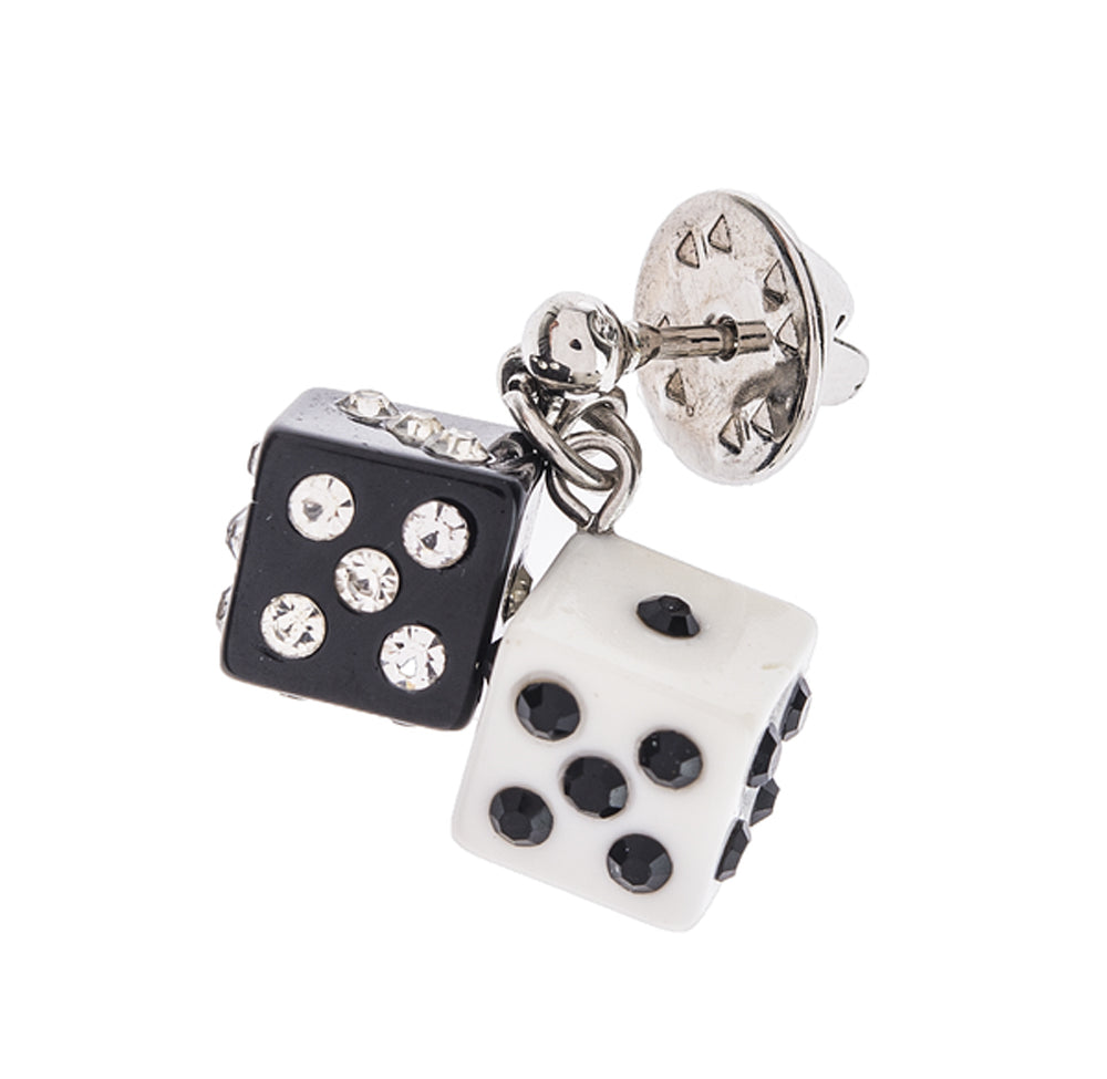 Dangle Dice Bling Pin
