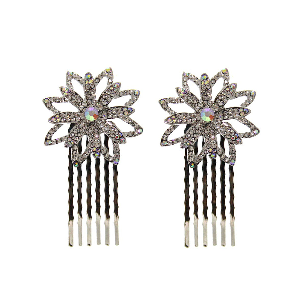 AB Flower Hair Combs