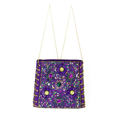 Mardi Gras Fireworks Bag Beaded