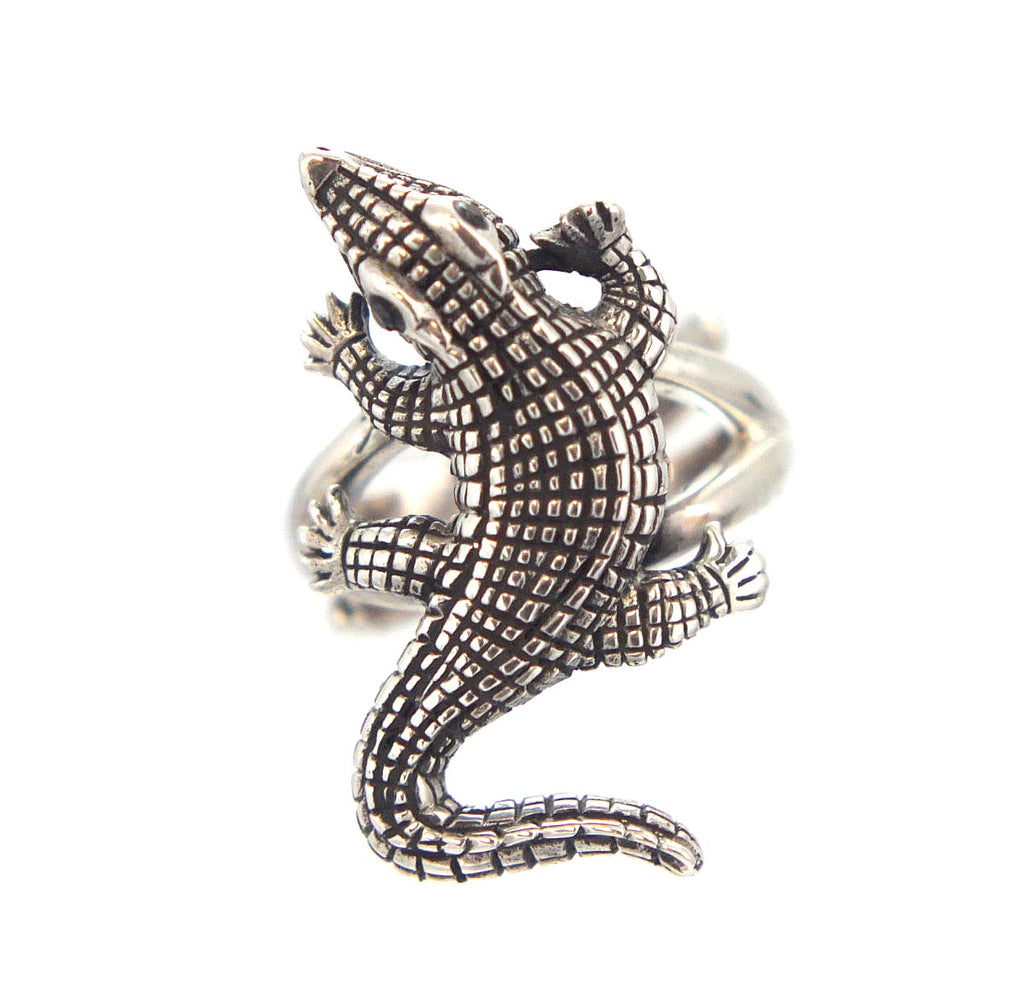 Alligator Ring Sterling Silver Size 7.5""