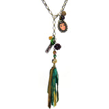 Amy Labbe Mardi Gras Necklace-Face & Tassel