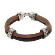 Mad Man Simon Leather Bracelet 8.5""