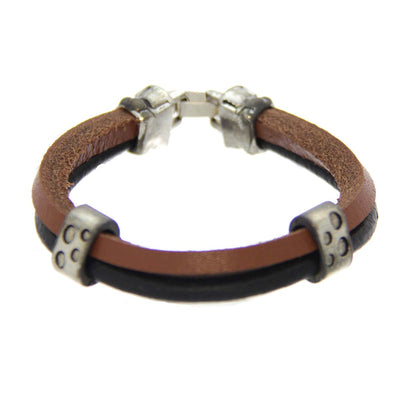 Mad Man Simon Leather Bracelet 8.5