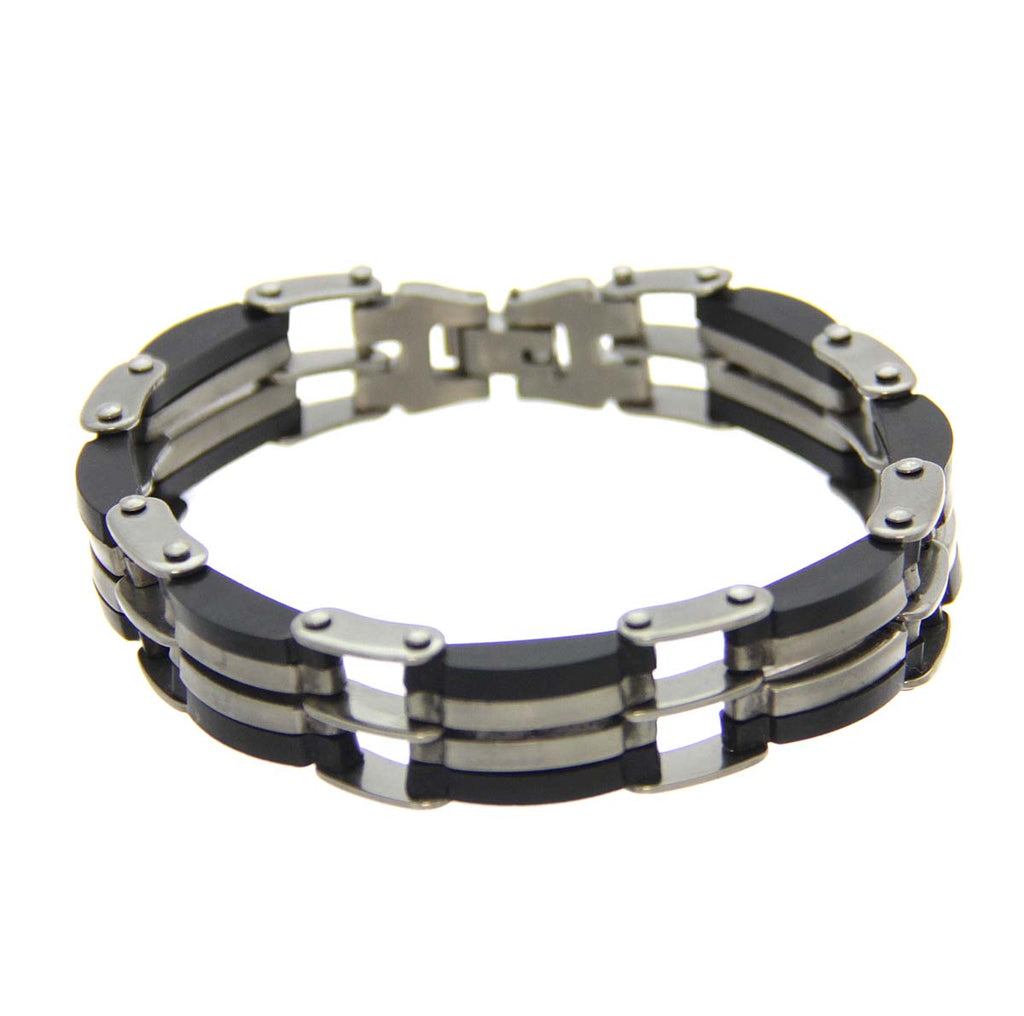 "Mad Man Stainless Steel Bracelet 8""-8.5"""