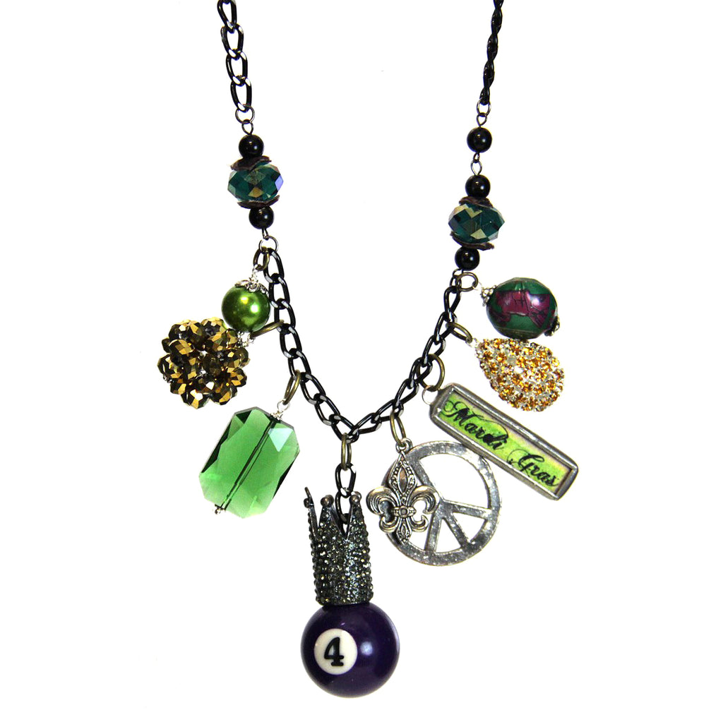 Amy Labbe Mardi Gras Necklace-Peace