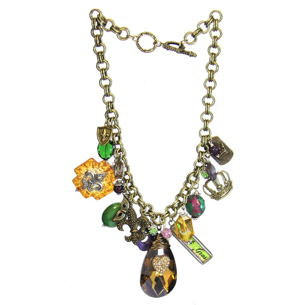 Amy Labbe Mardi Gras Necklace-Topaz Drop