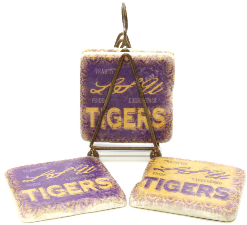 Coasters LSU Purple & Gold