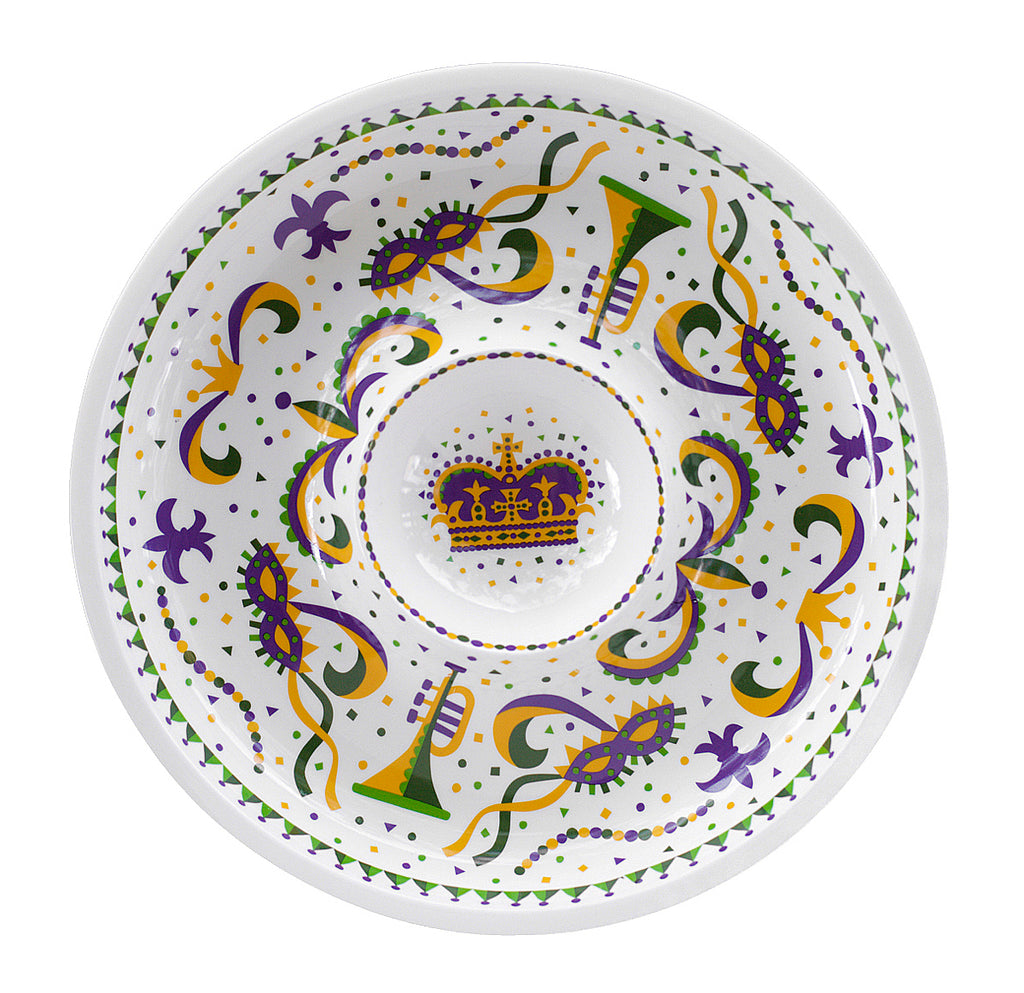 Mardi Gras Chip and Dip Bowl