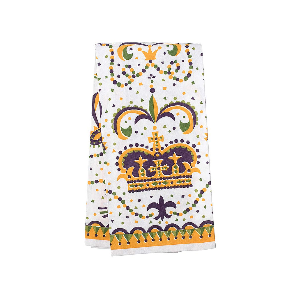 Mardi Gras Crown Kitchen Towel