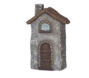 Mini Blue Brick House Figurine