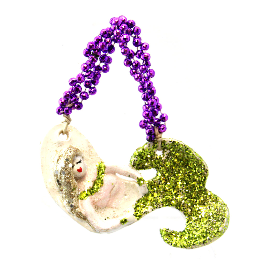 Kimberly Lang Mermaid Ornament-Green Top Design