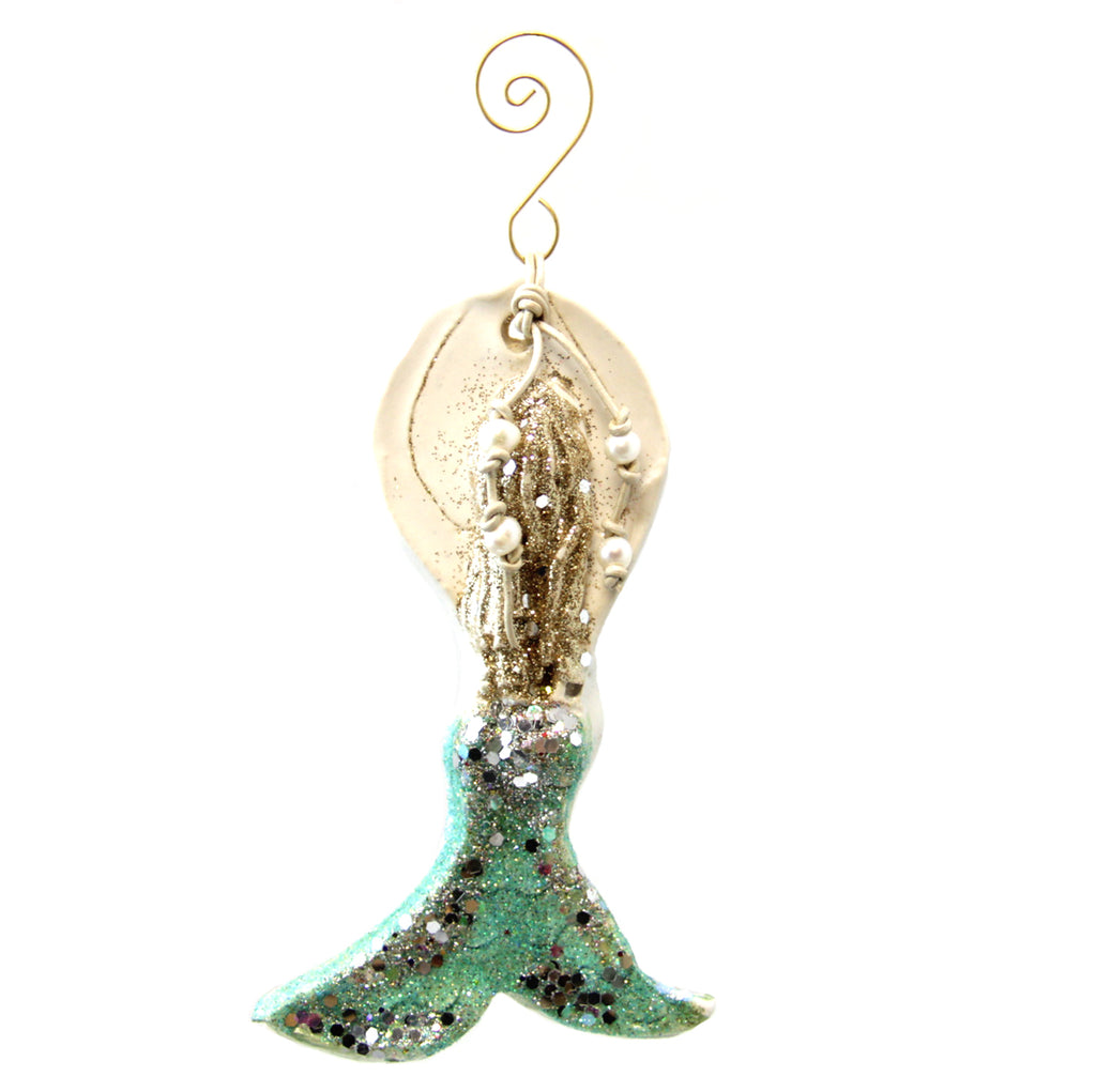Kimberly Lang Mermaid Ornament-Turquoise