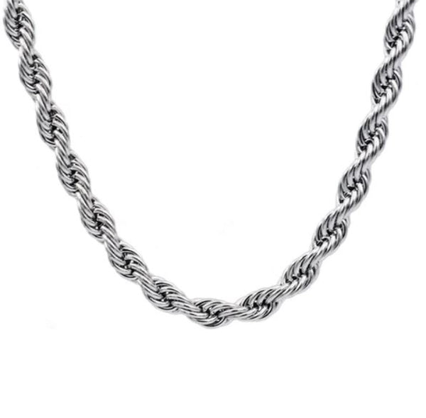 "4mm 16"" Stainless Rope Chain"
