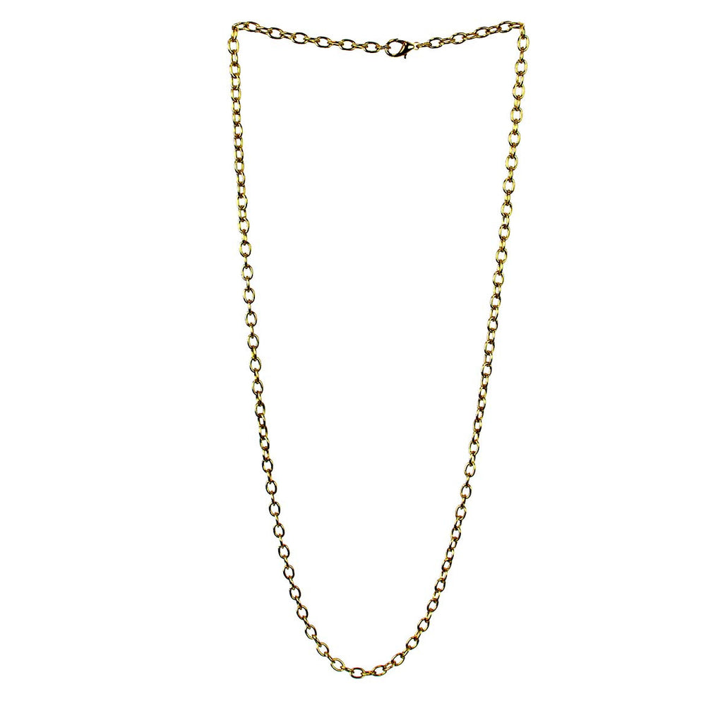 Gold Cable Chain 28""