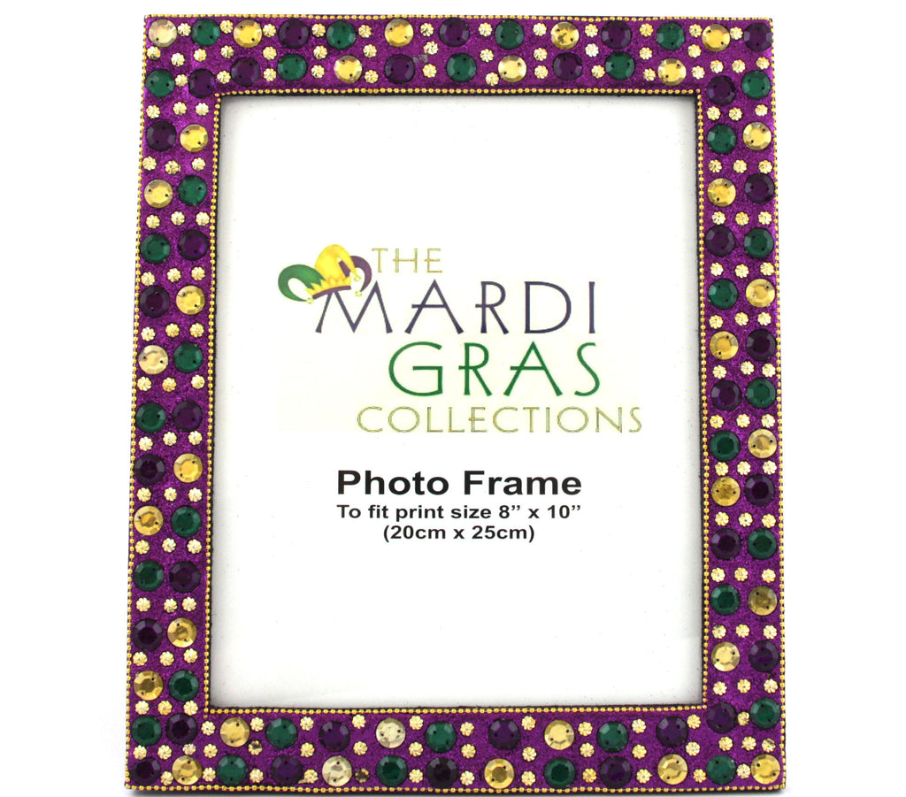 Mardi Gras Frame Beaded