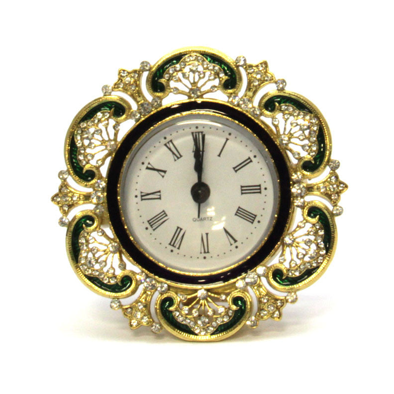 Clock Round Gold Base