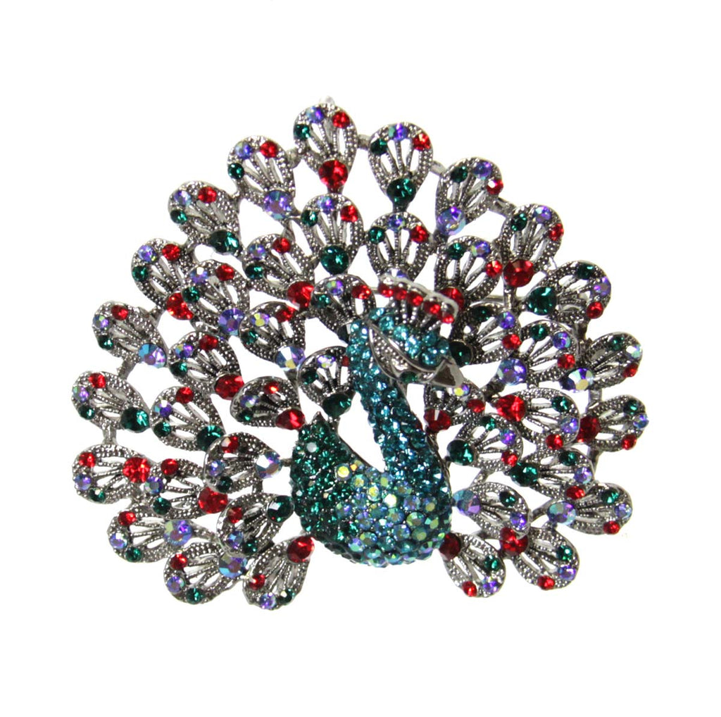 Peacock Pin/Pendant Large