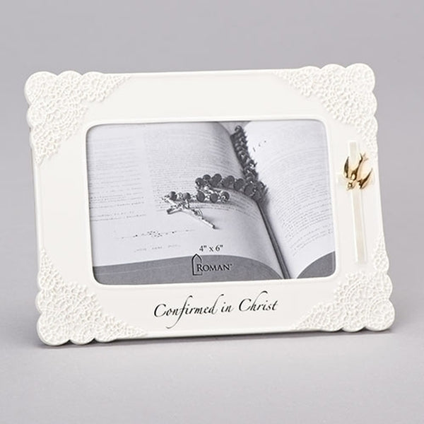 """Confirmed in Christ"" Porcelain Frame"