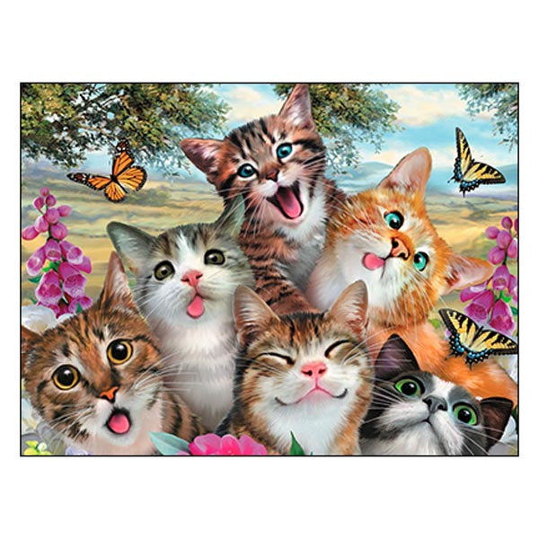Friendship Card: Wishing you a pawsitively purrfect day!