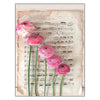 Blank Card: Musical Sheet Ranunculus