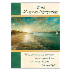 Sympathy Card: Thinking of you and wishing you peace.