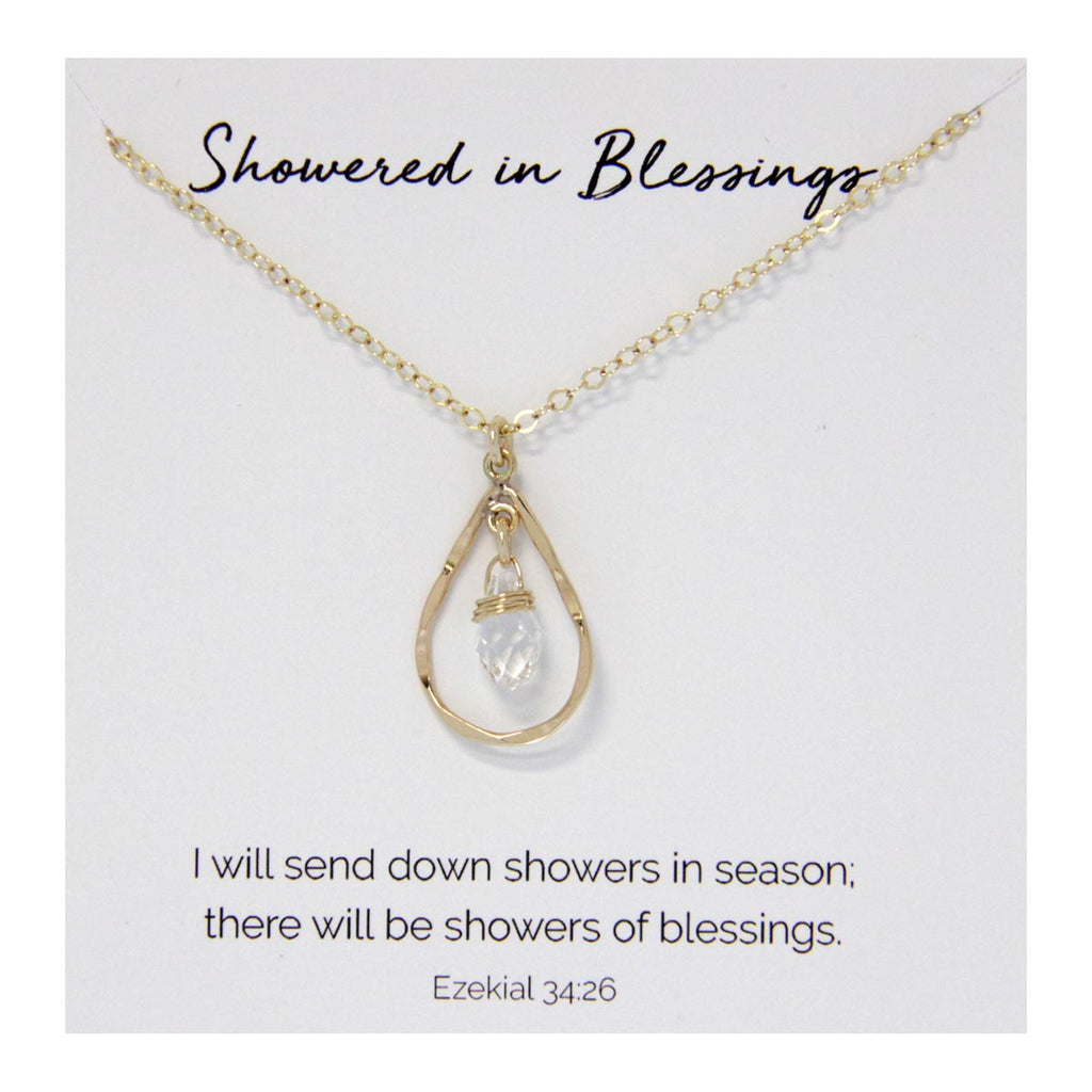 Showered in Blessings Necklace 14kt Gold Filled