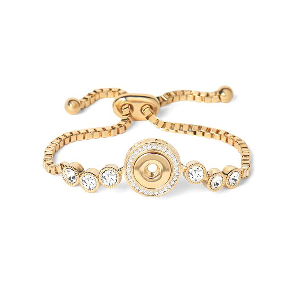 Petite Ginger Snaps Bracelet 6 Stone Adjustable-Gold