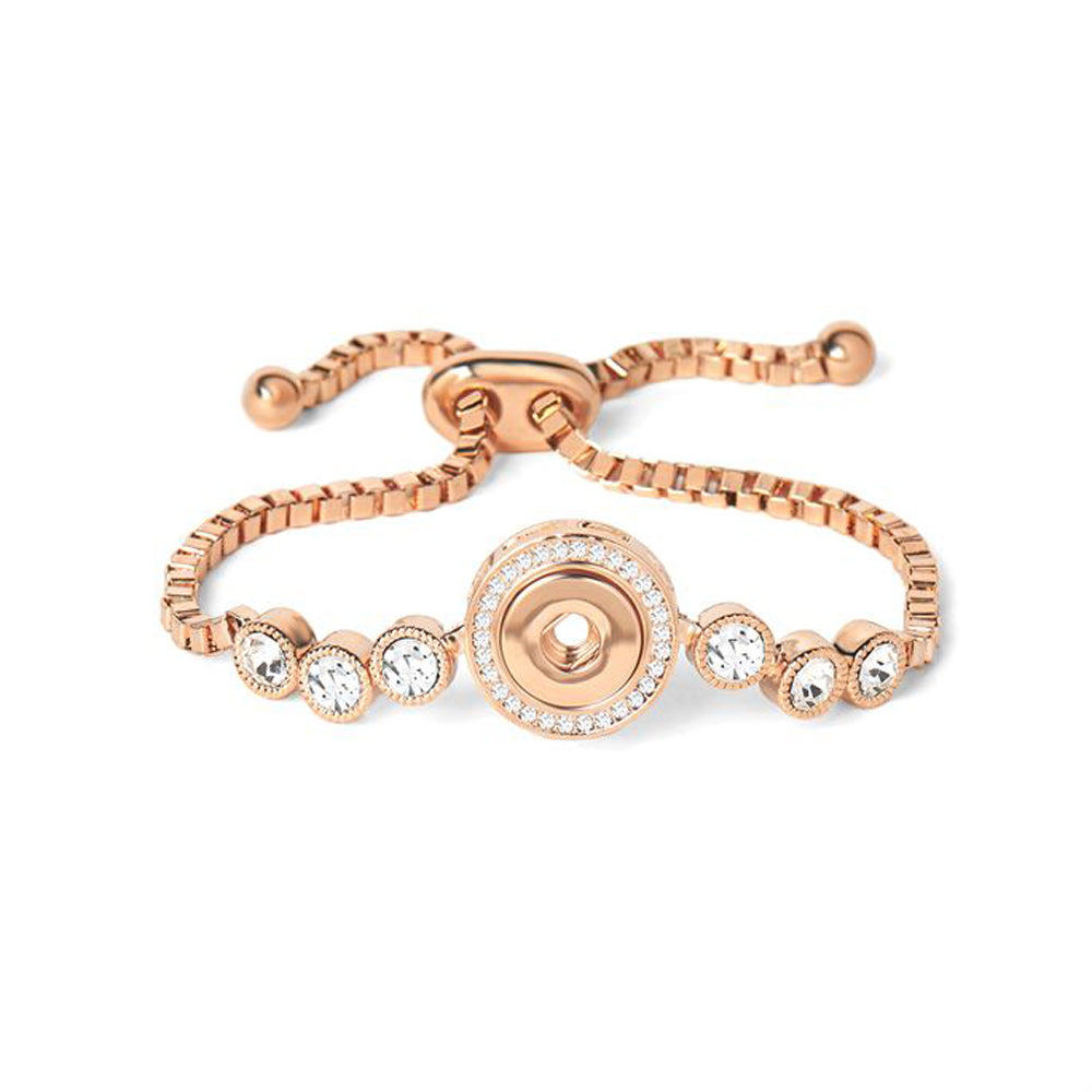 Petite Ginger Snaps Bracelet 6 Stone Adjustable-Rose Gold