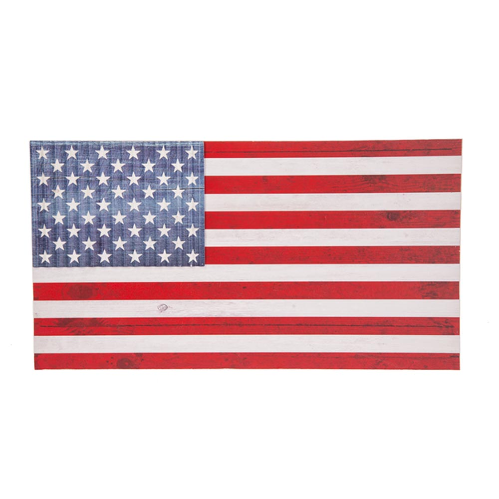 American Flag Wooden Plaque