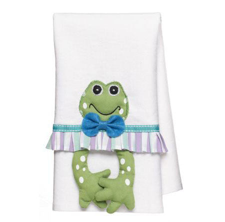 Frog Towel Blue design