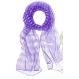 Sheer Stripes Scarf Purple