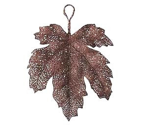 Shimmer Fall Leaves Brown Medium