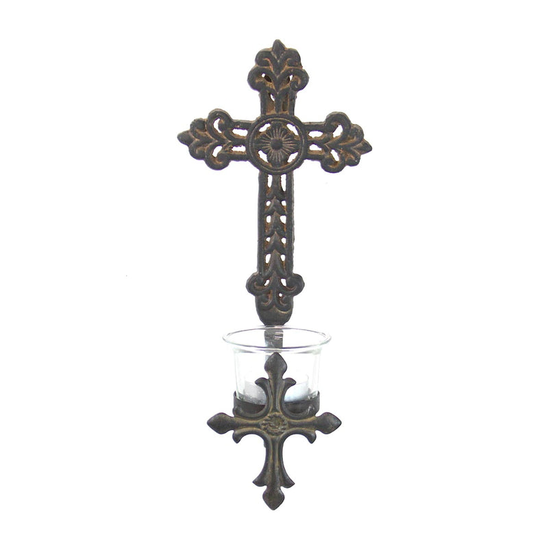 Wall Cross Votive Holder-Style 2