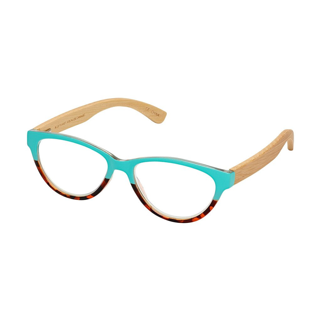 '+1.50 Lucia Bamboo Readers-Turquoise