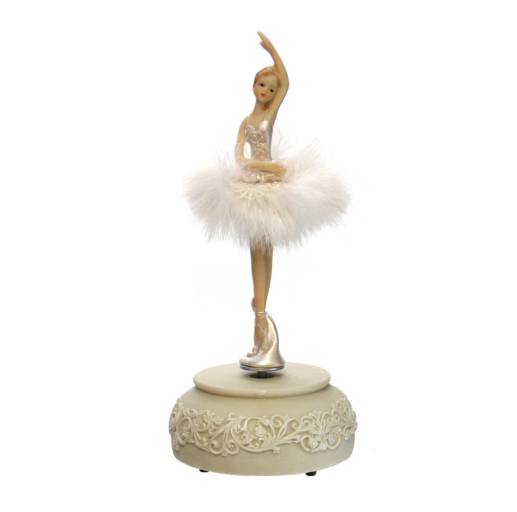 Musical Ballerina Figurine With Feather Tutu