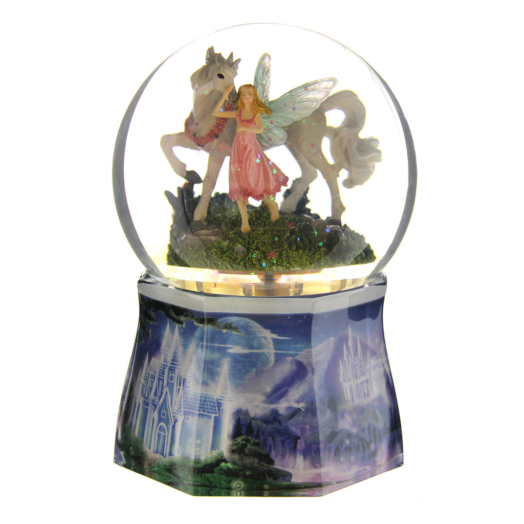 Musical Snow Globe Unicorn/Fairy