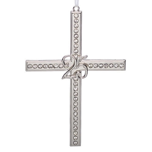 25th Wedding Anniversary Cross