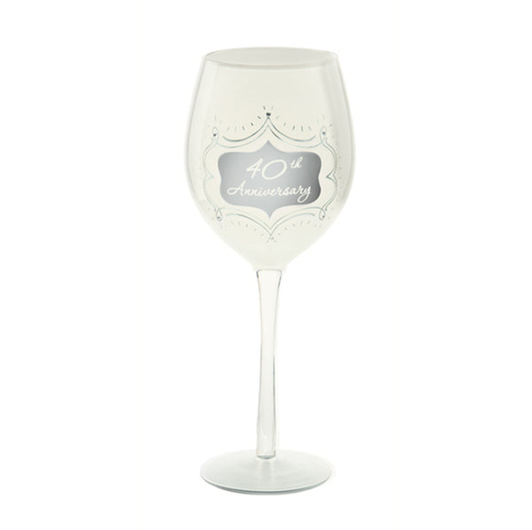 40th Anniversary Wine Glass