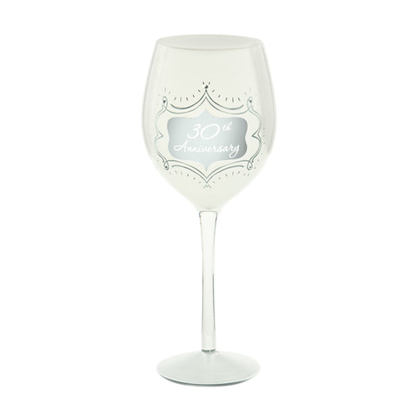 30th Anniversary Wine Glass