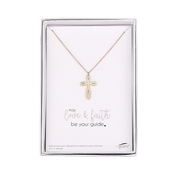 Children's Silver Cross Necklace