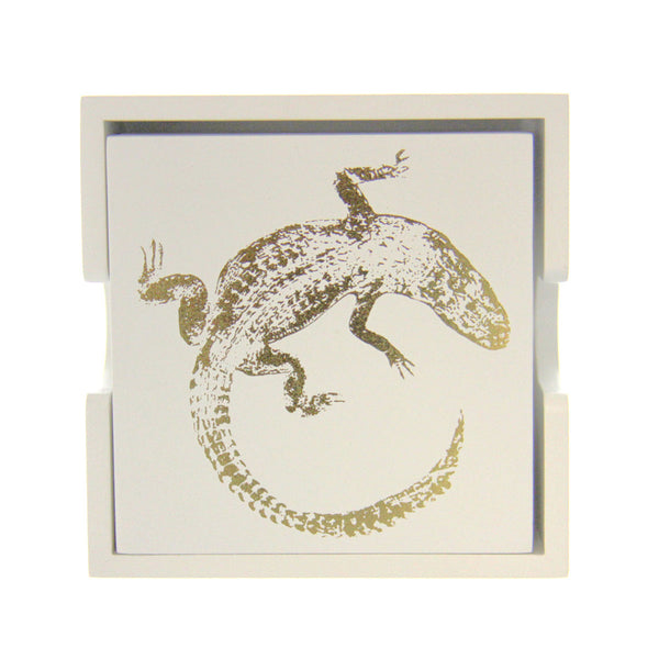Set/4 Alligator Coasters